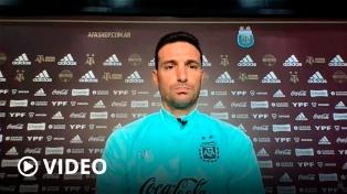 """Scaloni: """"Liberé a los jugadores de la Premier porque estaban agobiados"""""""
