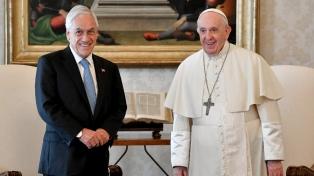 Francisco recibió al presidente chileno Piñera en el Vaticano