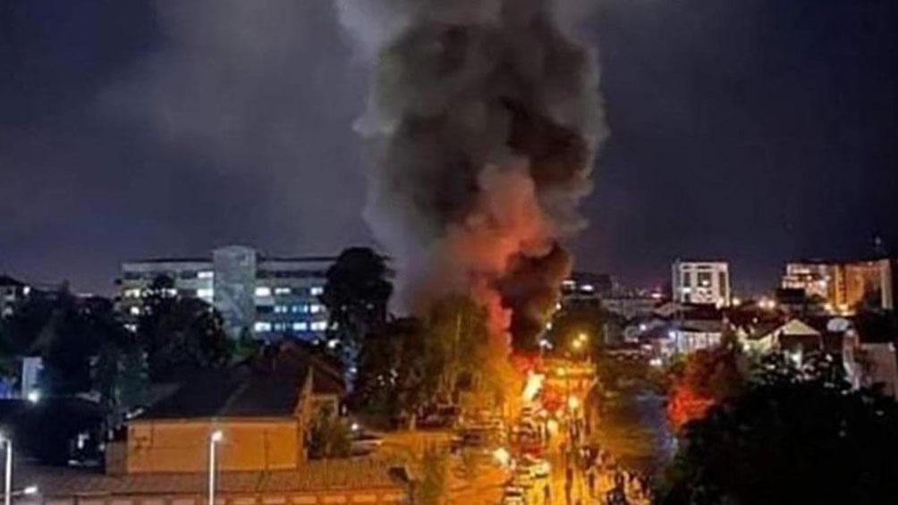 Incendio en un hospital de Macedonia del Norte.