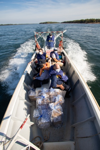 Otro operativo tiene lugar en la Isla Apipé Grande, del departamento de Ituzaingó, Corrientes.