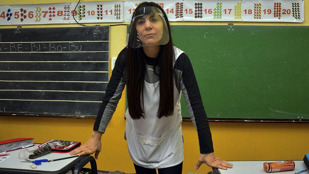 """Valeria Giménez definió la vuelta a la presencialidad como algo """"maravilloso"""". Foto: Marcelo Ochoa"""