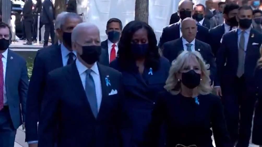 El presidente Biden encabezó el acto principal. Foto: Captura TV