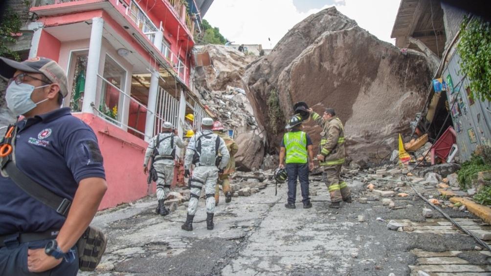 México: al menos un muerto y 10 desaparecidos por un derrumbe en un cerro