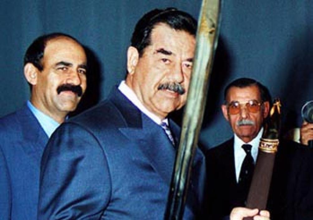 Saddam Hussein, líder militar iraquí.