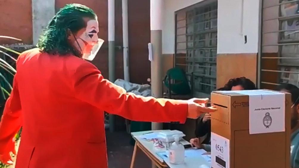El Joker Agentino documentó su voto en Instagram.