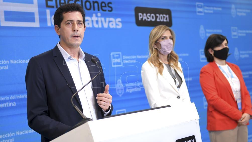 """Wado de Pedro destacó que las elecciones se desarrollaron """"en paz, con tranquilidad y con orden""""."""