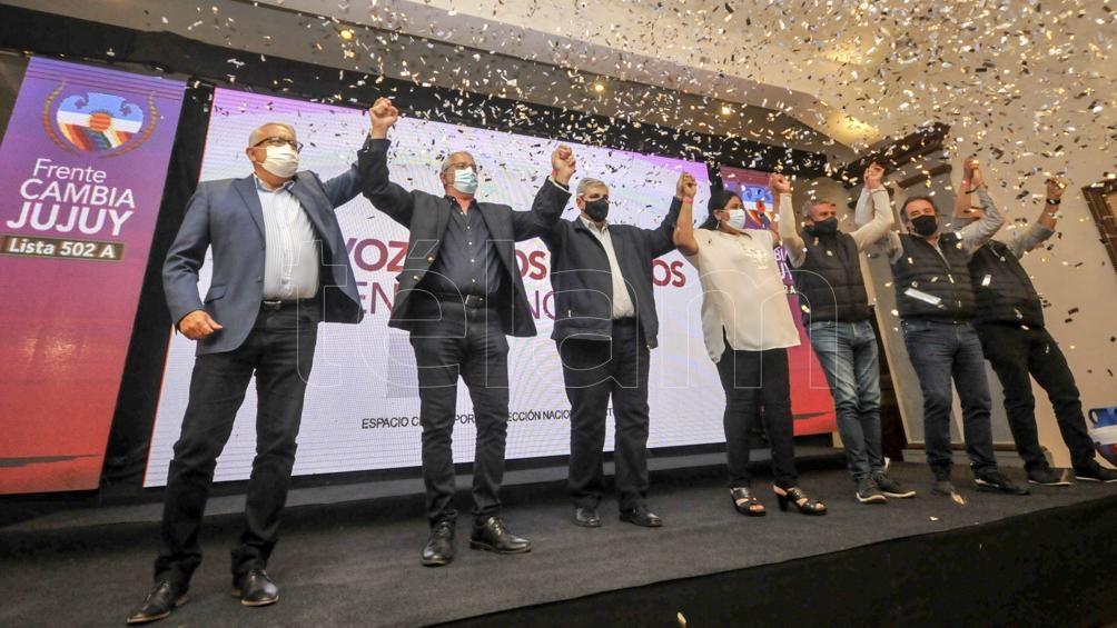 La lista Cambia Jujuy, que responde al gobernador Gerardo Morales, obtenía el 46,42% por ciento de los votos. (Foto Edgardo Varela)