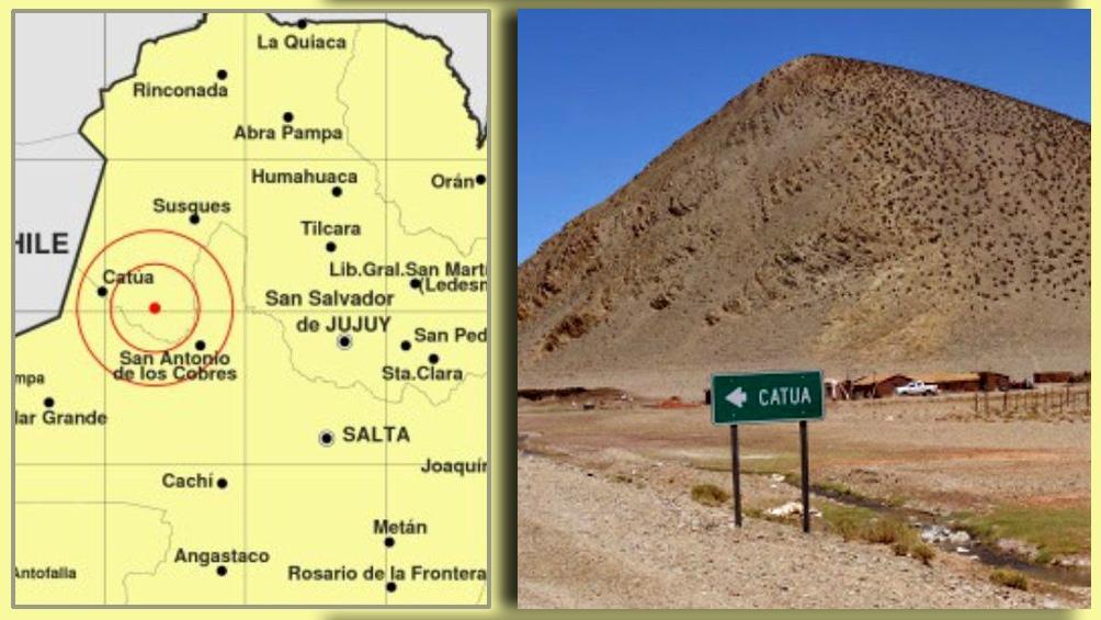 Se registró a 180 kilómetros al oeste de San Salvador de Jujuy y 196 kilómetros al noroeste de la ciudad de Salta.