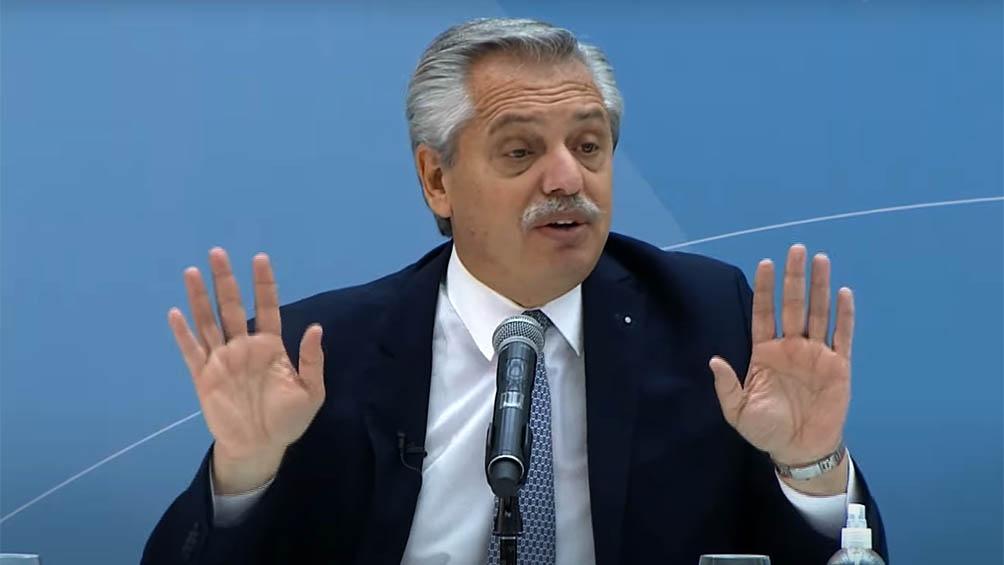 Alberto Fernández se refirió al voto femenino.