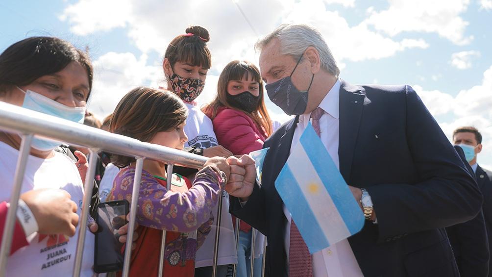 """Alberto Fernández aseguró que """"la pandemia no frenó al Gobierno"""" en su desarrollo de obras públicas."""