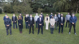 El Presidente se reunió con funcionarios e intendentes del conurbano