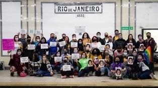 Legisladoras del Frente de Todos homenajearon a Marielle Franco en el subte porteño