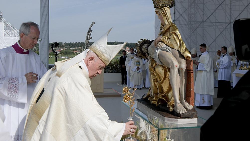 El Papa realizó una gira de cuatro días por Budapest y Eslovaquia. Foto: AFP