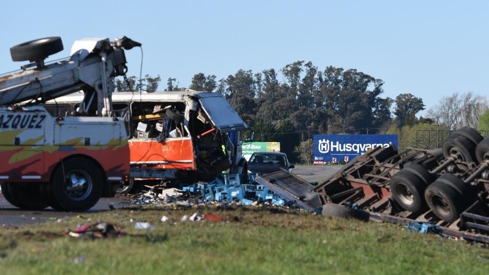 El accidente ocurrió pasadas las 3.30 en el kilómetro 96 de la ruta 2, de la mano que va hacia la Costa Atlántica. Foto: Gustavo Amarelle