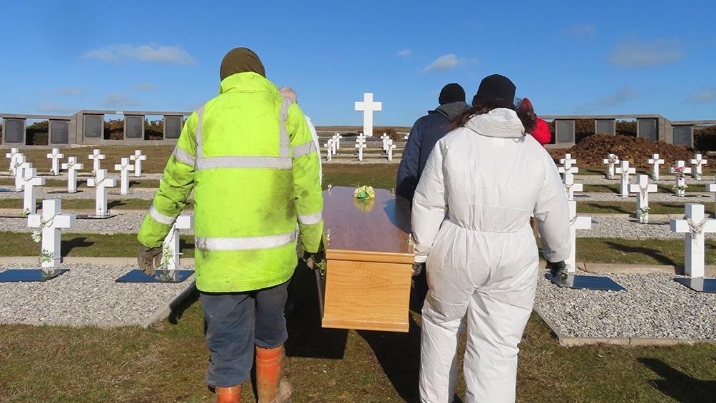 La ceremonia de inhumación se llevó a cabo este miércoles en Darwin.