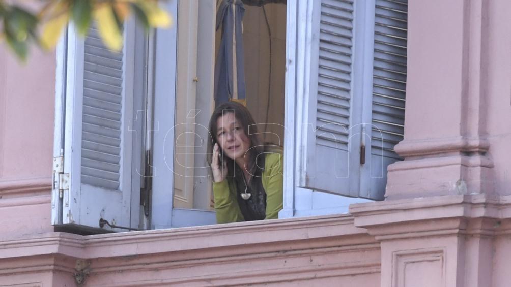 Sabina Frederic, ministra de Seguridad, apoyó fuertemente al Presidente (Foto: Julián Álvarez)