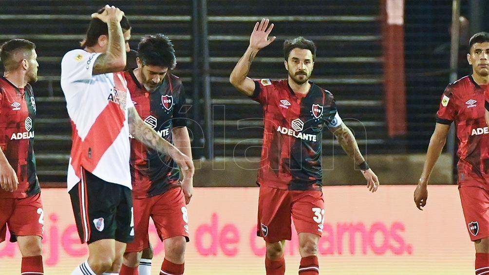 La inexorable ley del ex, Nacho Scocco marcó el empate parcial. (Foto: Sebastián Granata)
