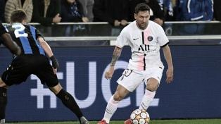 Messi y PSG tuvieron un debut opaco en la Liga de Campeones con el empate ante Brujas