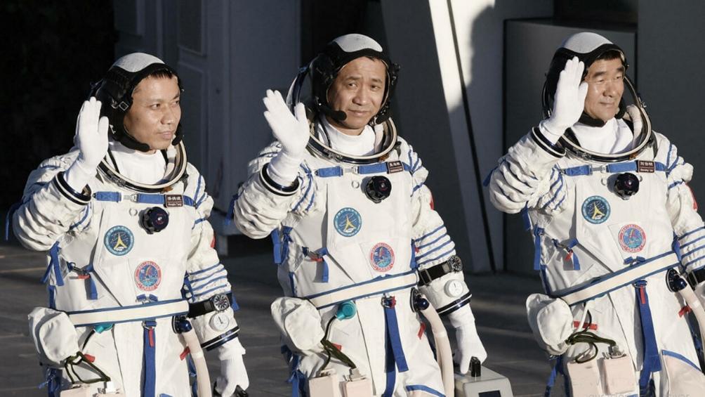 La misión Shenzhou-12 fue lanzada en junio poco antes de las celebraciones del centenario del Partido Comunista Chino