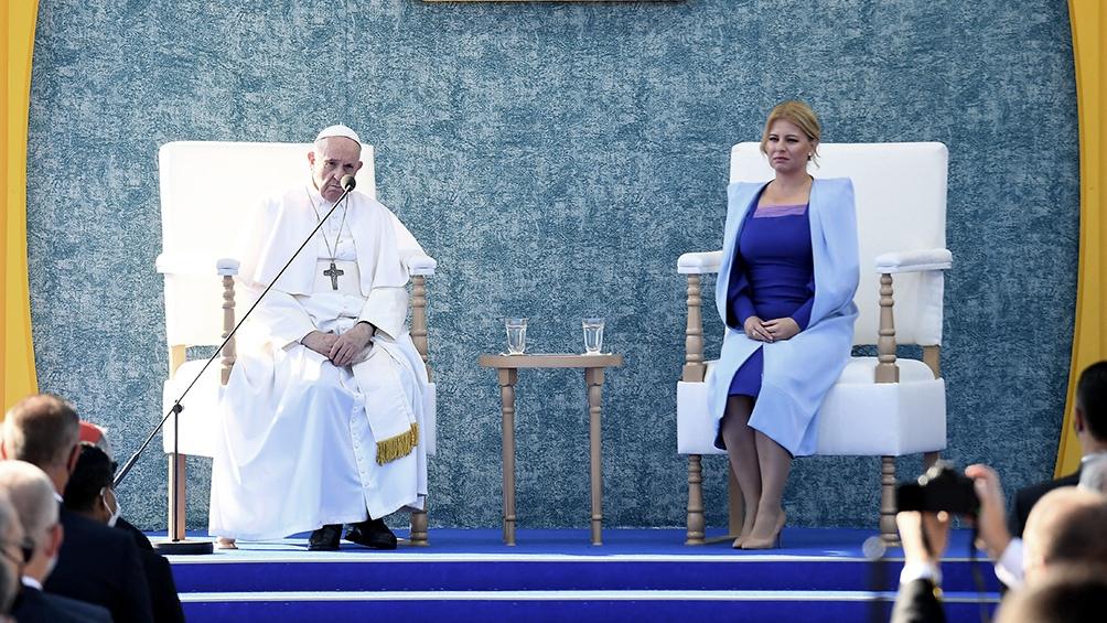 En Eslovaquia el Papa tuvo una extensa reunión bilateral con Caputova