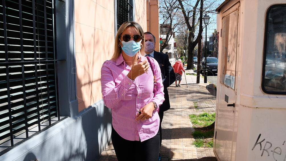 Oliva llegó pasadas las 12 a la sede de la Fiscalía General de San Isidro. Foto: Daniel Dabove.