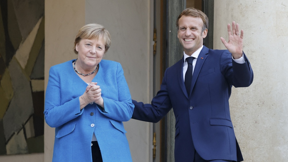 Merkel y Macron, último encuentro en París