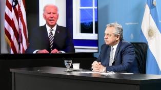 Presidente Alberto Fernández propôs a Biden melhores condições de financiamento para enfrentar a crise climática