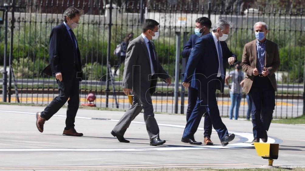 El Presidente llegó a Casa Rosada acompañado de Vitobello y Beliz.