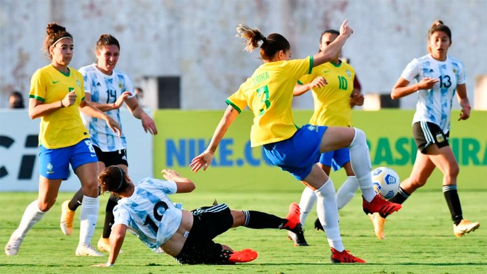 El Seleccionado Femenino Argentino perdió ante Brasil en un amistoso