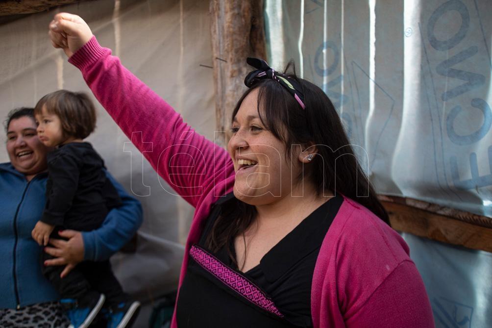 Amancay tiene 32 años y un hijo de uno.  (Foto: Alejandra Bartoliche).