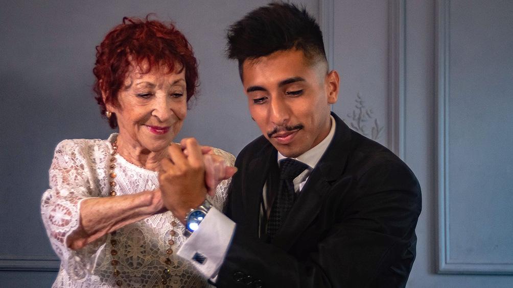 El tango como danza, eje principal del documental.