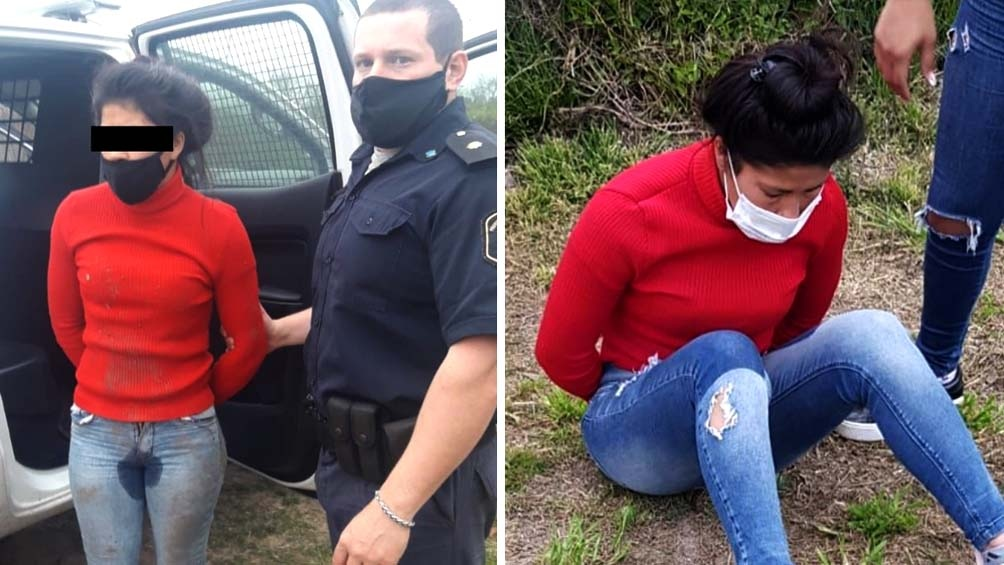 Liz Ortega Castillo al momento de ser detenida por la agresión hacia Laura Delgadillo y su bebé de un año y medio.