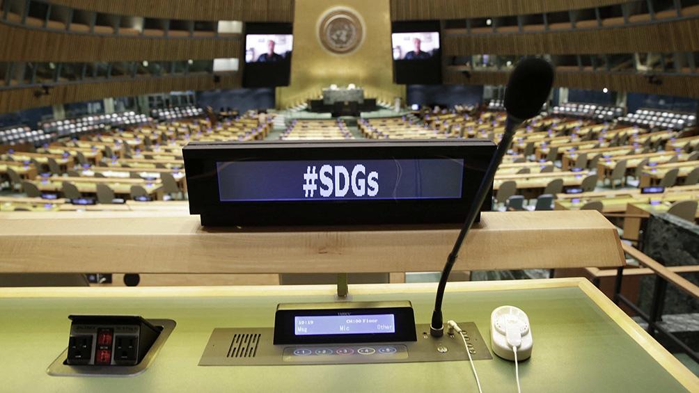 El recinto donde se vuelve a realizar la Asamblea General de Naciones Unidas. Foto: AFP.