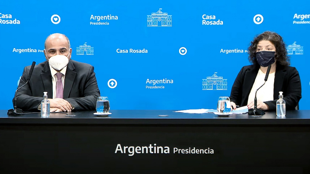 O Ministro-chefe da Casa Civil, Jorge Manzur e a Ministra da Saúde, Carla Vizzotti