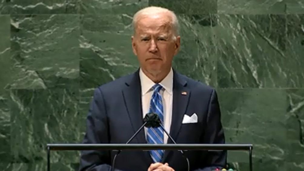 """""""Estamos en un punto de inflexión en la historia"""", sentenció Biden ."""