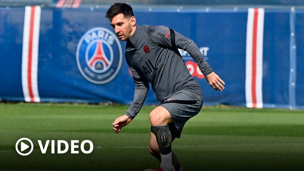 Messi sufrió una lesión en la rodilla izquierda y estará ausente frente al Metz