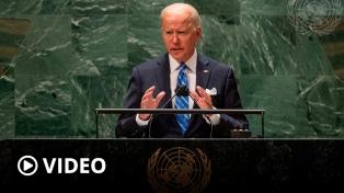 """Biden en la ONU: """"No estamos buscando una nueva Guerra Fría"""""""