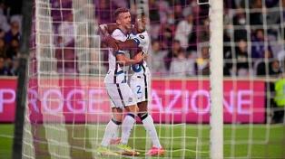 Inter lo dio vuelta frente a la Fiorentina y se subió a la cima del torneo