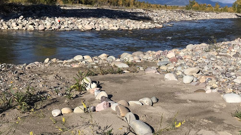 Sitio en el que hallaron el cuerpo de Petito en el estado de Wyoming (Captura Twitter @LindseySablan)
