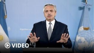 """Fernández criticó el """"endeudamiento tóxico e irresponsable"""" de Cambiemos con el FMI"""