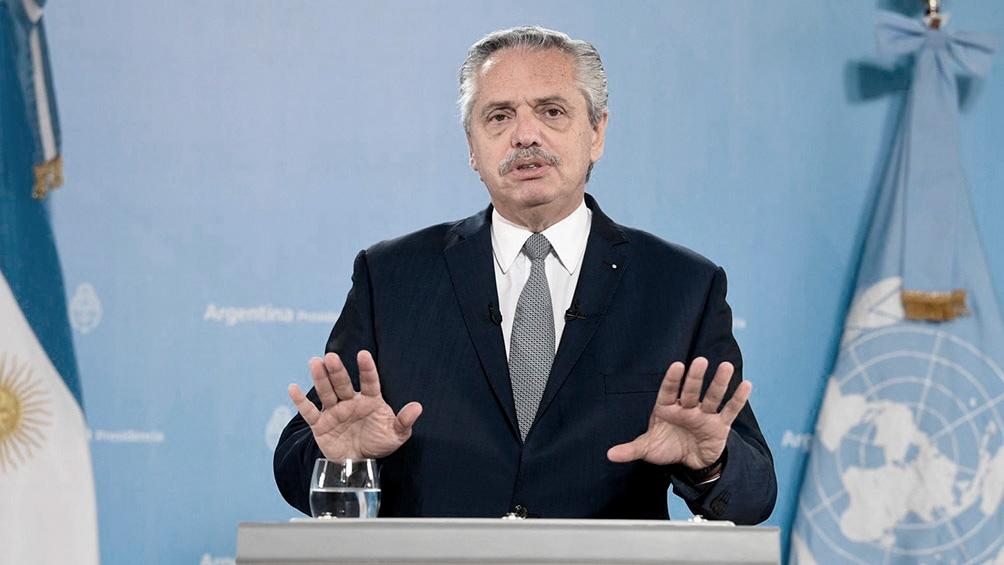Alberto Fernández habló ante la Asamblea de Naciones Unidas.