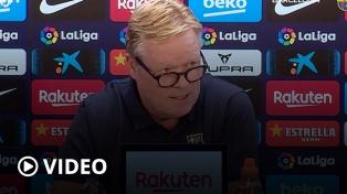 La insólita conferencia de prensa del técnico del Barcelona