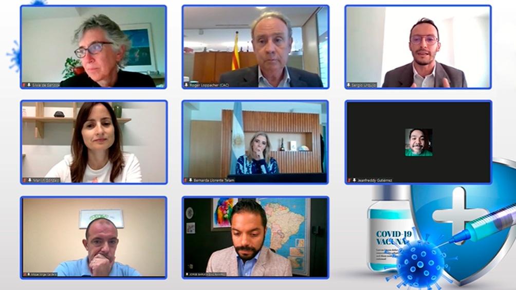 Los participantes del debate organizado por la Plataforma de Reguladores del Audiovisual de Iberoamérica. El encuentro duró dos horas.