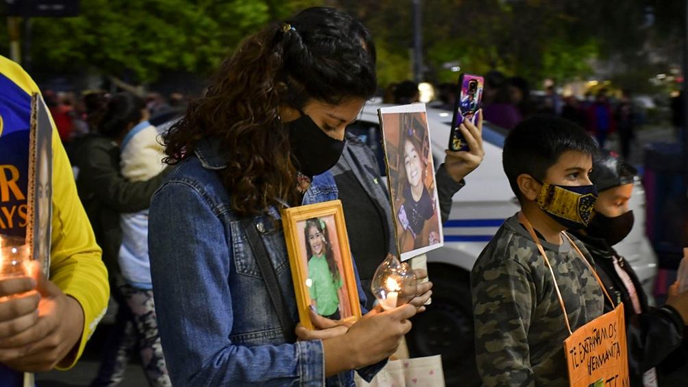 Familiares y vecinos marcharon en en el centro de la ciudad de San Luis (Foto: Marianela Sánchez).