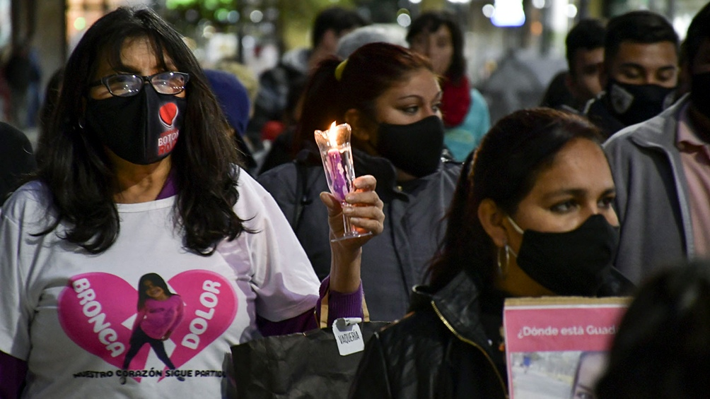 Familiares y vecinos de Guadalupe realizaron una marcha a 100 días de su desaparición