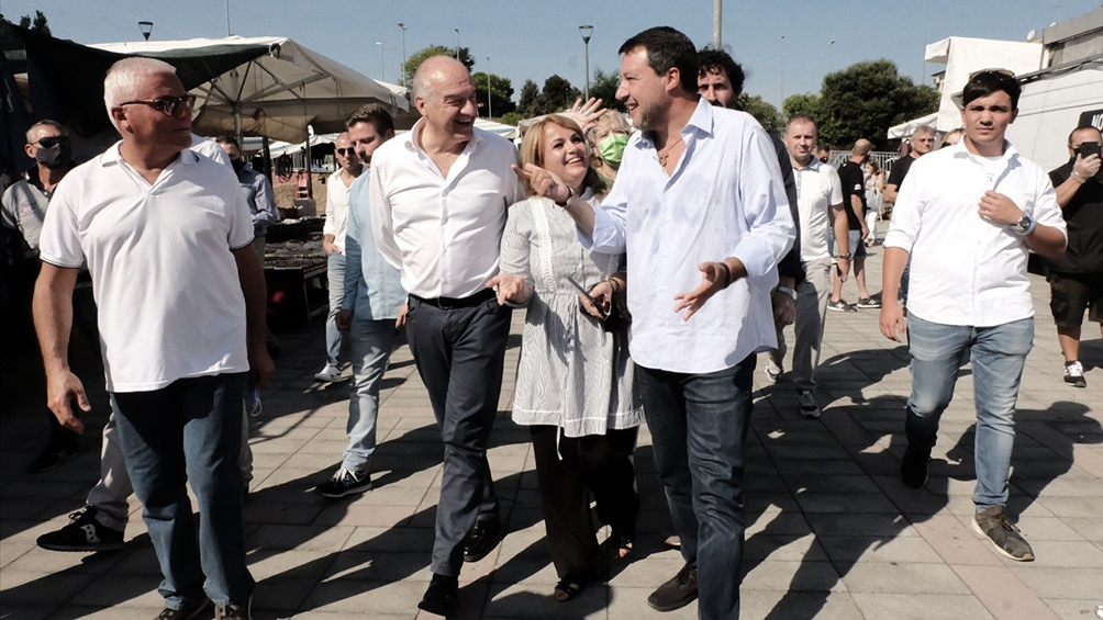 Enrico Michetti fue elegido por Hermanos de Italia, fuerza de derecha opositora a Draghi a nivel nacional (Foto Twitter)