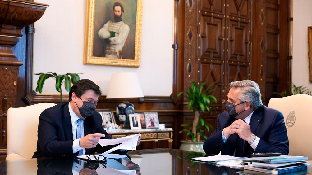 Moroni compartió una reunión con el presidente Alberto Fernández.