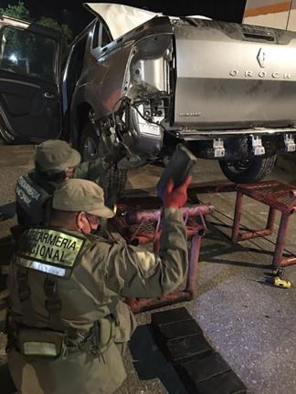 Detuvieron a cuatro personas. Foto: Gendarmería Nacional.