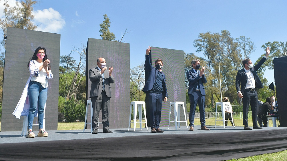 El acto se desarrolló en un amplio predio al aire libre que posee el polideportivo de Pilar.