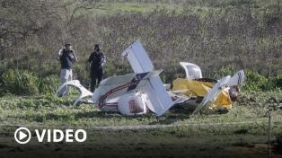 Un instructor de vuelo y su alumno murieron al caer una avioneta en Berazategui